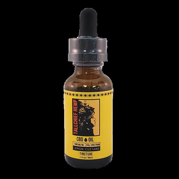 Lemon Custard CBD Tincture Oil - Tallchief Hemp